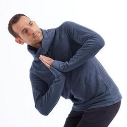 Fleece yoga sweater voor heren turquoise