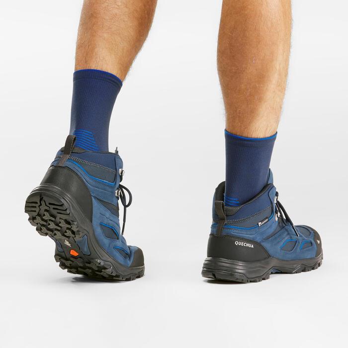 Waterproof Mountain Hiking Shoes Mh100 Mid Men Decathlon