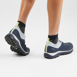 ULTRA-LIGHT HIKING SHOES - FH500 - DARK BLUE - WOMEN