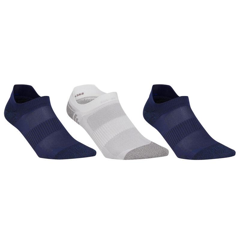 Sokken sportief wandelen nordic walking WS 500 Invisible Fresh blauw/wit/blauw