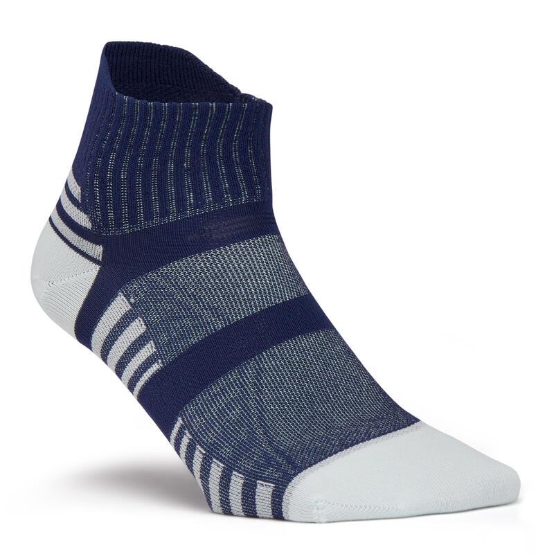 Sokken voor sportief wandelen nordic walking snelwandelen WS 900 Low lichtblauw
