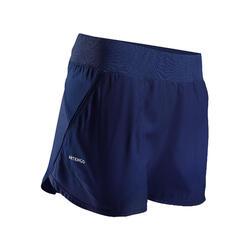 Tennisshort voor dames SH Dry 500 marineblauw