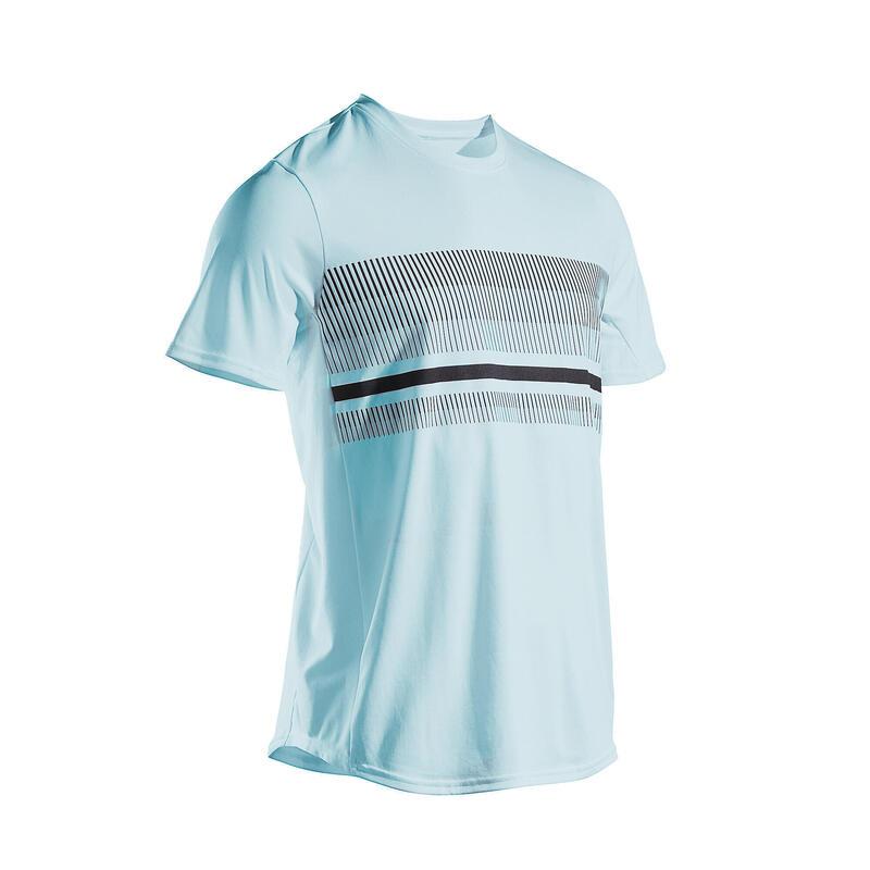Tennisshirt voor heren TTS100 lichtblauw