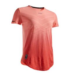女款網球T恤TS Light 990 -紅色配珊瑚橘