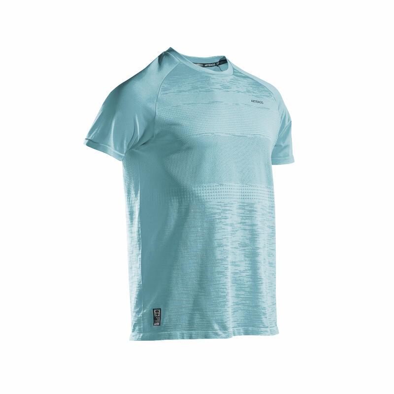 Erkek Tenis Tişörtü - Mavi - TTS 500 SOFT