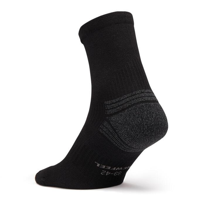 Chaussettes marche sportive/nordique WS 100 Mid noir/gris/bleu (3 paires)