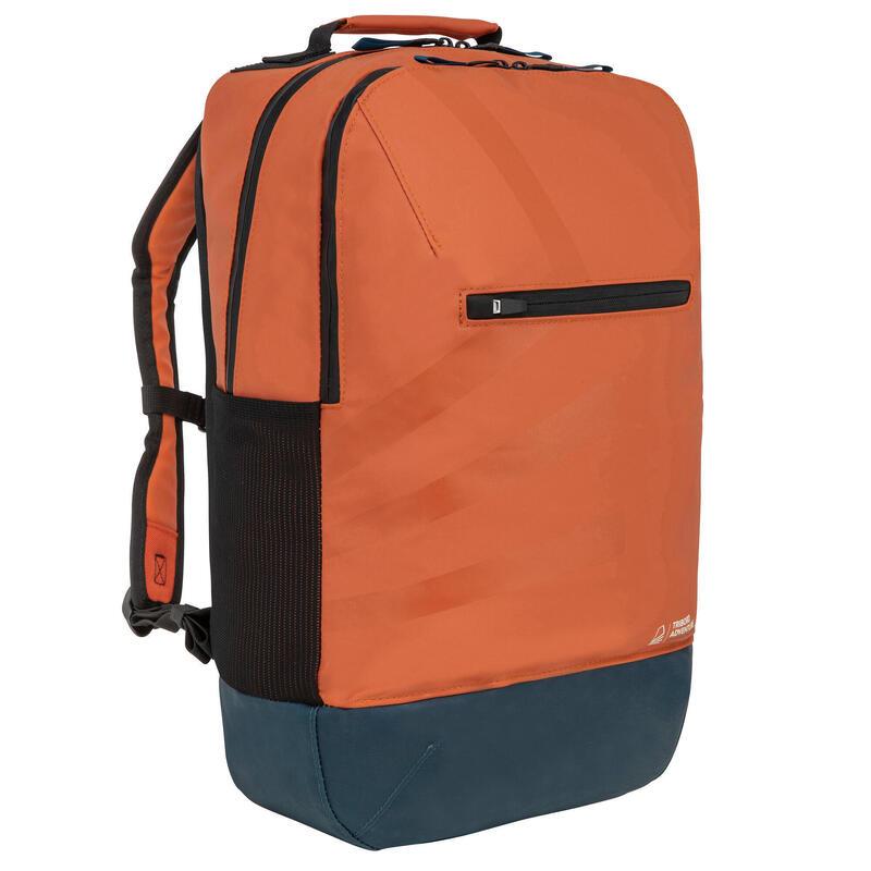 Waterafstotende rugzak voor zeilen oranje 25 liter
