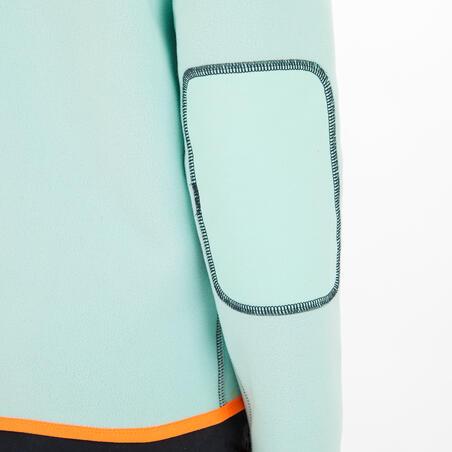 Дитяча флісова кофта 500, двостороння - Темно-синя/М'ятна