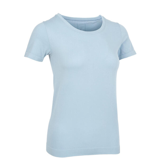 Women's Short-Sleeved Seamless Yoga T-Shirt