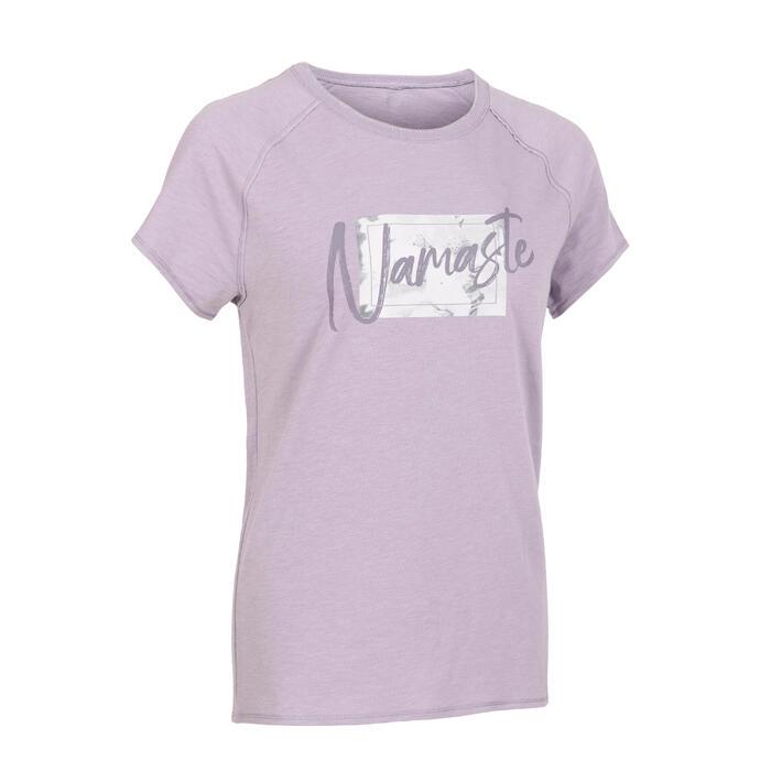 Women's Short-Sleeved Gentle Yoga T-Shirt - Mandala Purple