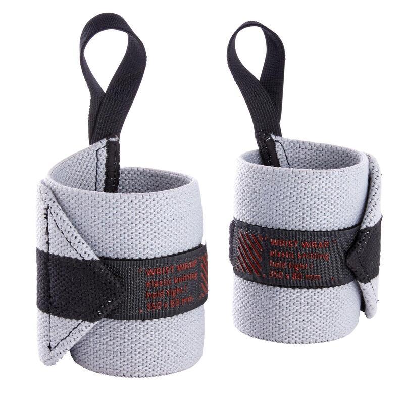 Weight Training Wrist Wrap Strap - Light Grey