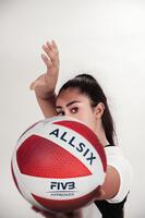 Balón de voleibol V900 blanco/rojo