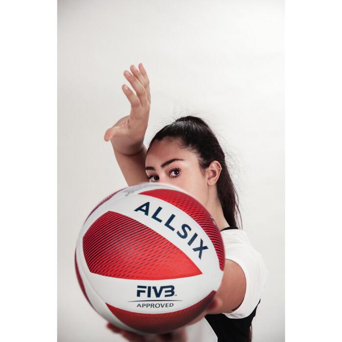 Ballon de volley-ball FIVB V900 blanc/rouge
