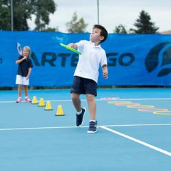 100 兒童網球短褲 - 海軍藍