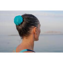 Elastisch haarnetje voor synchroonzwemmen blauw turquoise