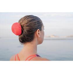 Elastisch haarnetje voor synchroonzwemmen roze koraalrood
