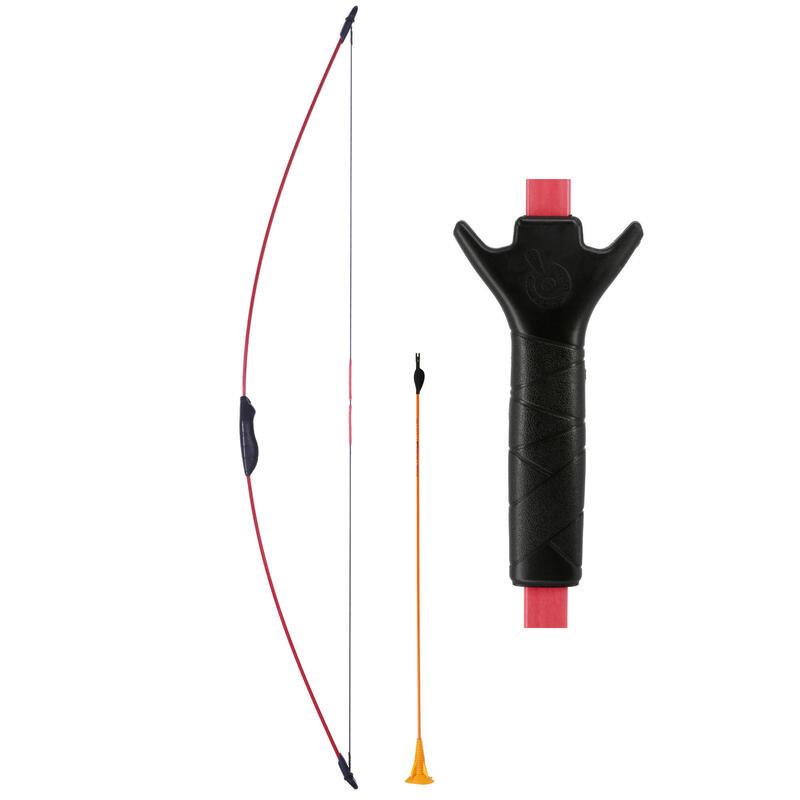 青少年射箭運動弓Discovery - 紅色