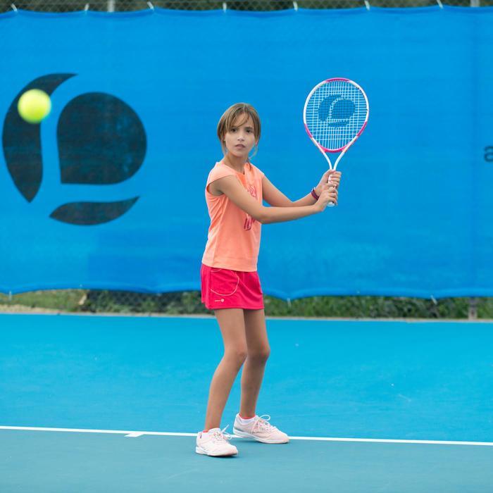 TR130 23 Girls' Tennis Racket - White/Pink - 195656