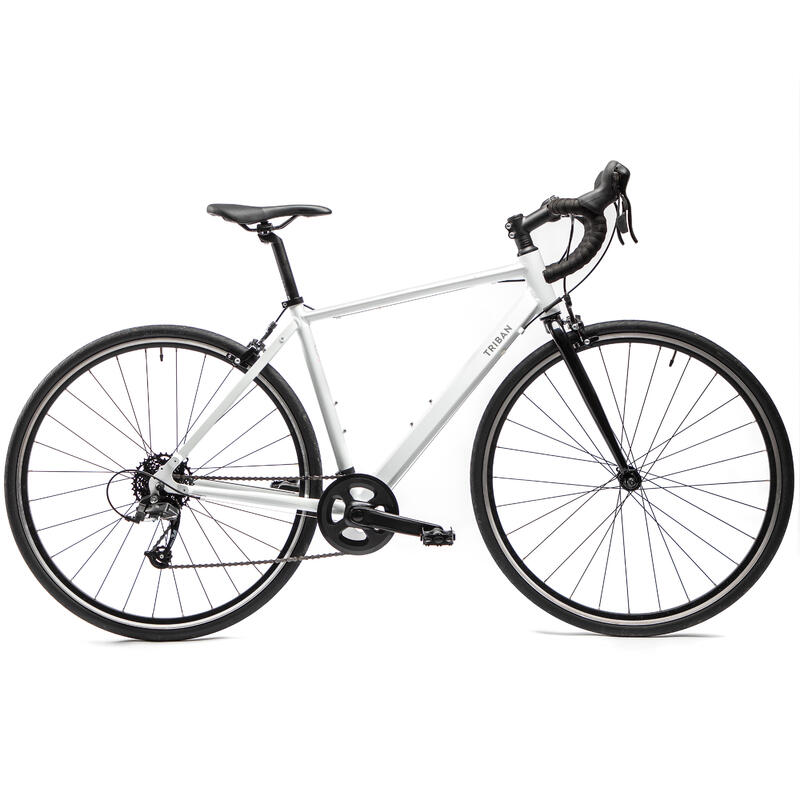 Women's Road Bike Triban Easy - White