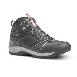 防水郊野遠足鞋 - NH150 中筒 - 灰色 - 女裝