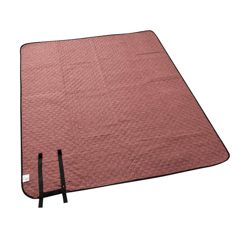 Schutzzelte, Picknickdecken Naturwandern Camping - Picknickdecke 140×170cm rost QUECHUA - Campingmöbel, Campingküche