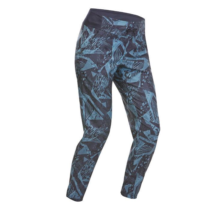 Calças de Caminhada na Natureza - NH100 - Azul marinho - Mulher