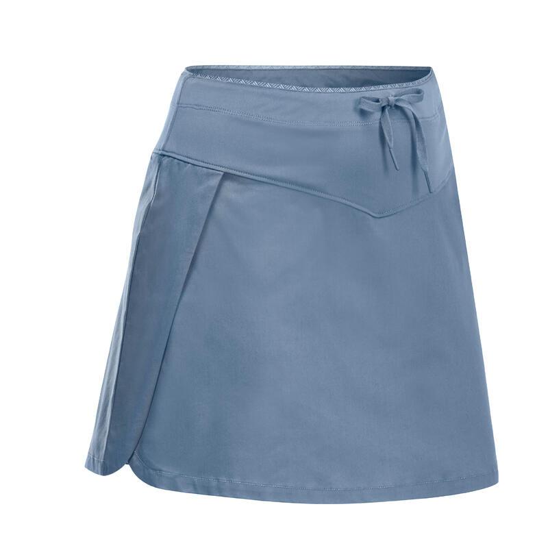 Dámská turistická sukně s kraťasy NH 500 modrá