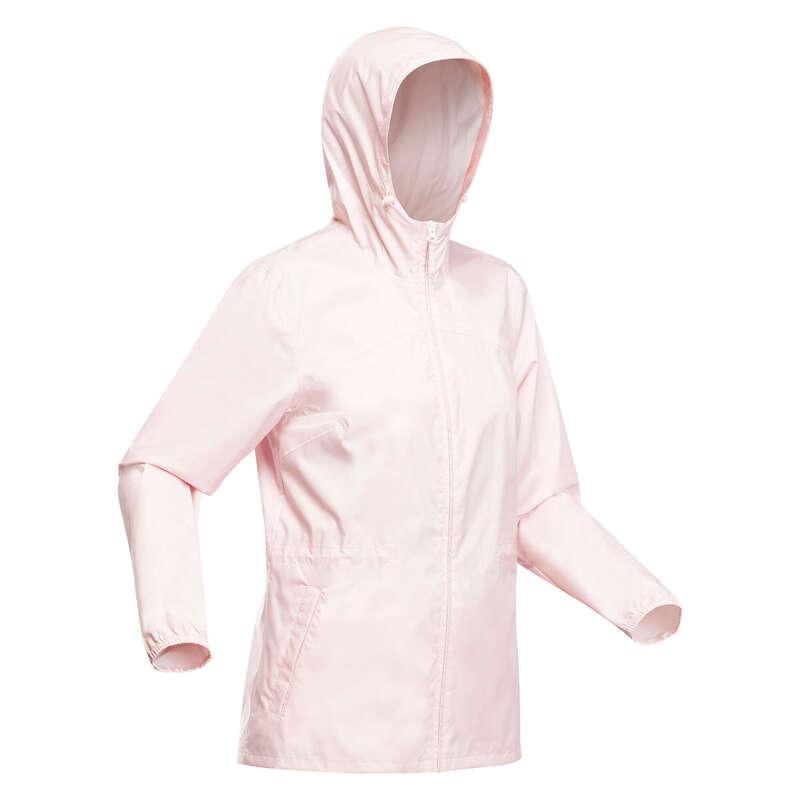 ЖЕНСКИЕ КУРТКИ / прогулки на природе Одежда - Куртка розовая Raincut Zip QUECHUA - Куртки