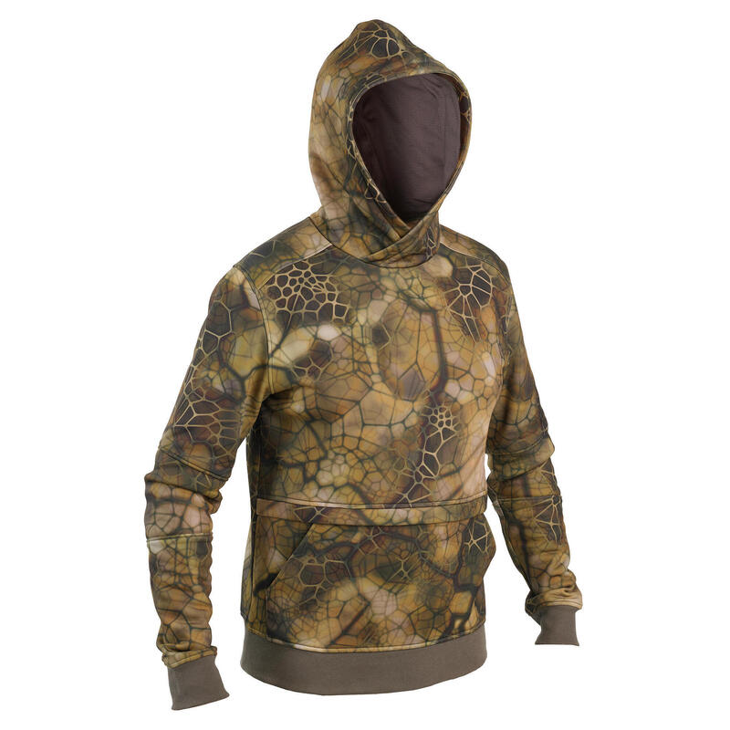 Sweat capuche chasse Chaud Silencieux Camouflage Furtiv 500