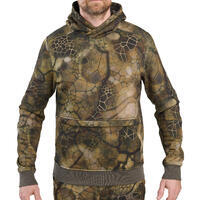 500 Furtiv camouflaged silent hooded hunting sweatshirt
