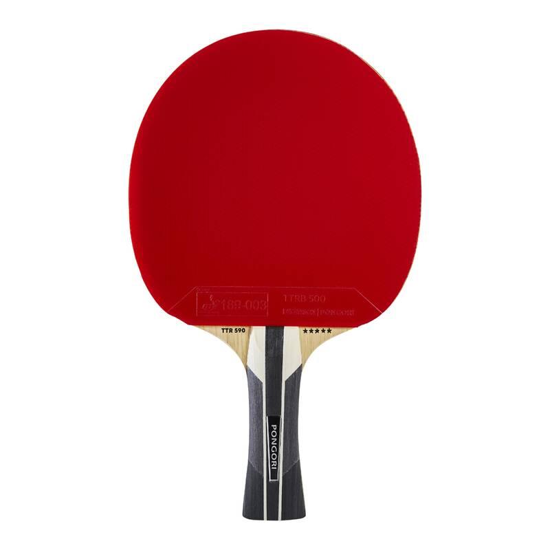 PÁLKY POKROČILÍ RAKETOVÉ SPORTY - PÁLKA TTR590 Speed Carbon 5*  PONGORI - Stolní tenis, ping pong