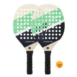 Beach Tennis Racket Set Experience - Green/Blue