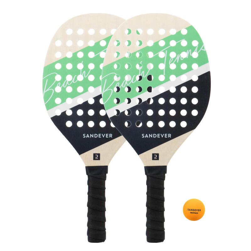 Set raquettes Beach Tennis Experience GreenBleu