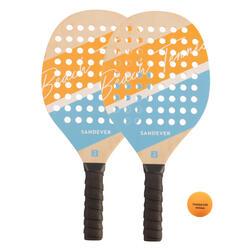 Beach Tennis Racket Set Experience - Yellow/Blue