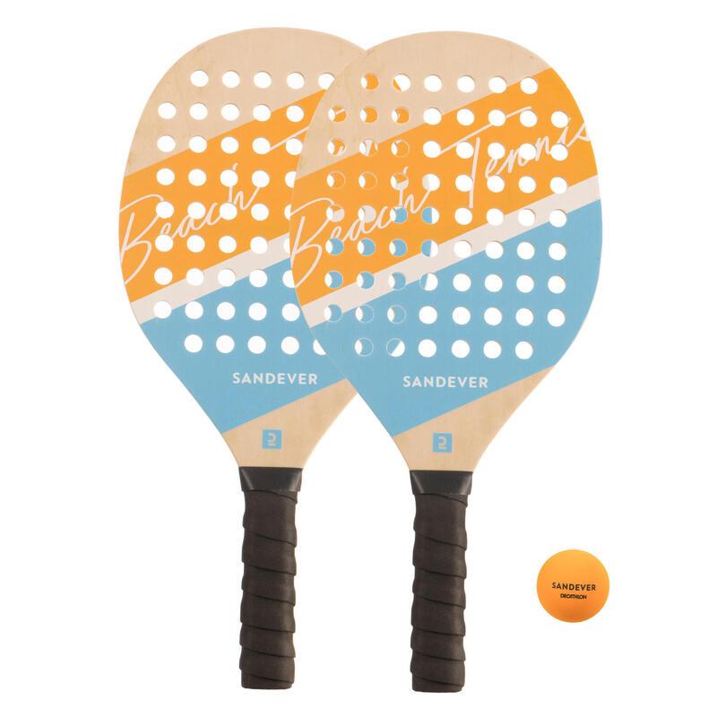 Kit racchette beach tennis EXPERIENCE giallo-azzurro