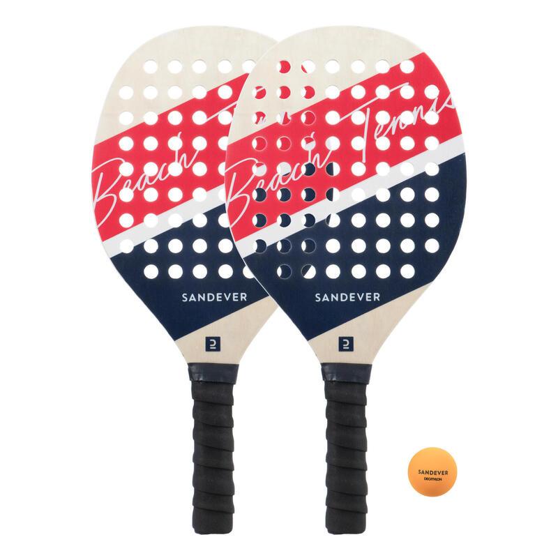 Kit racchette beach tennis EXPERIENCE rosso-blu