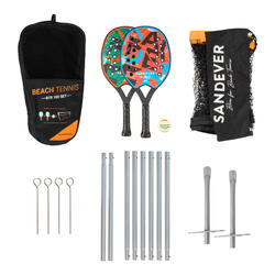 set raquettes beach tennis + filet SET BTR 160 + NET