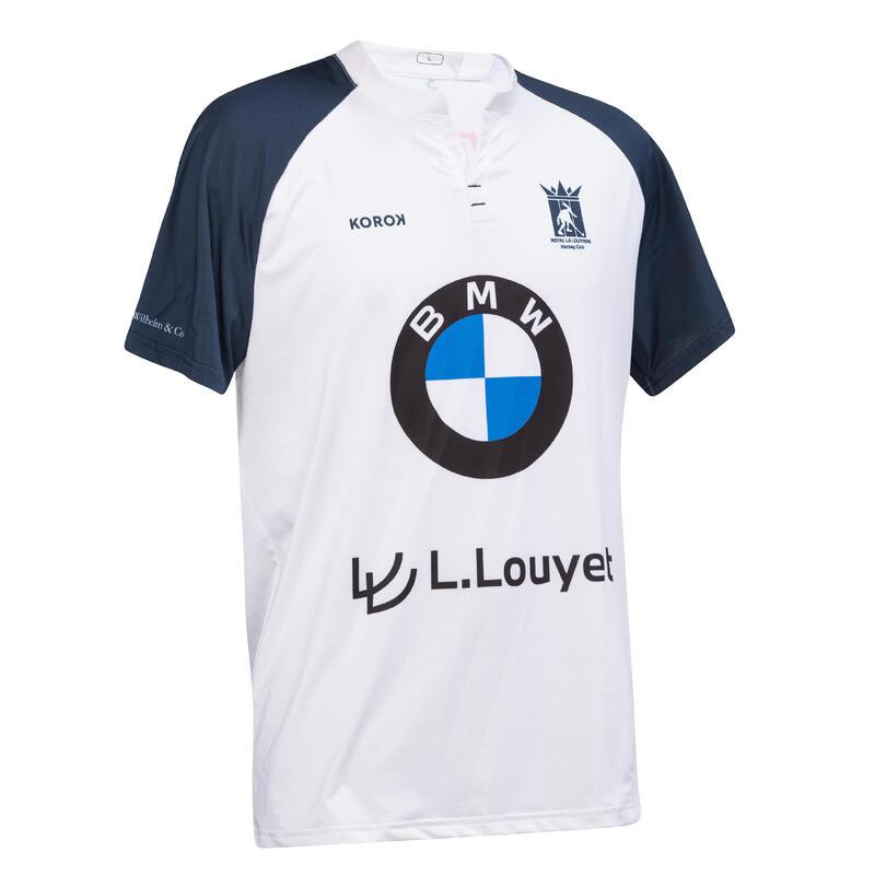 Camiseta de hockey sobre hierba hombre FH500 La Louvière blanco