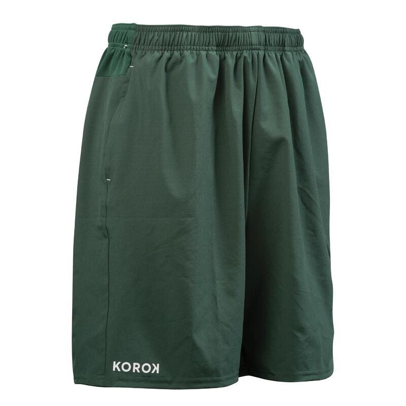 Pantalón Corto Hockey Hierba hombre FH500 verde