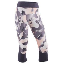 3/4-Leggings atmungsaktiv Synthetik S500 Gym Kinder grau mit Print