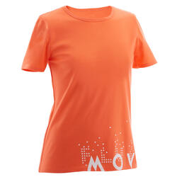 T-shirt GINÁSTICA CRIANÇA Menina 100 Coral Estampado