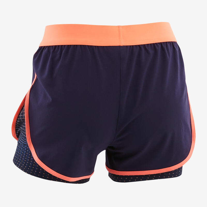 Girls' 2-in-1 Shorts - Navy