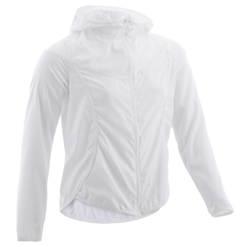Girls' Ultra-Light Compact Breathable Jacket - White