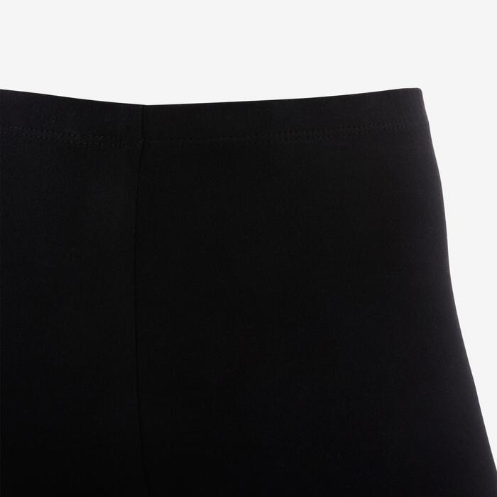 3/4-Leggings Basic Kinder schwarz