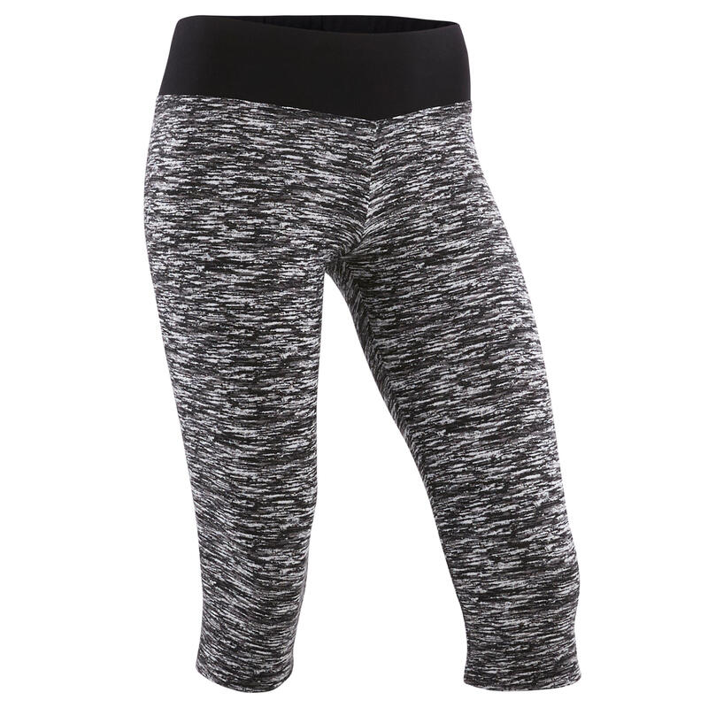 Girls' Breathable Cotton Cropped Leggings - Dark Grey