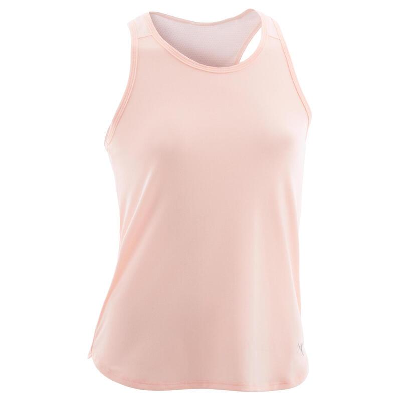 Ademende gymtop voor meisjes 500 roze