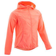 Girls' Ultra-Light Compact Breathable Jacket - Coral