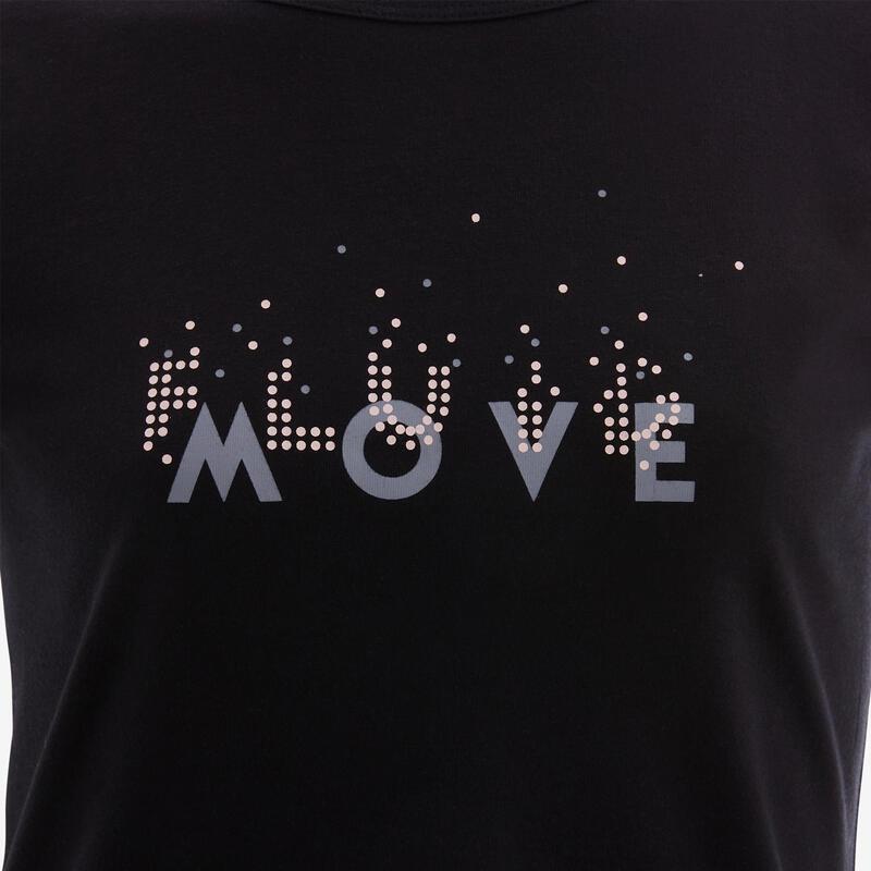 T-shirt basique enfant imprimé graphique noir