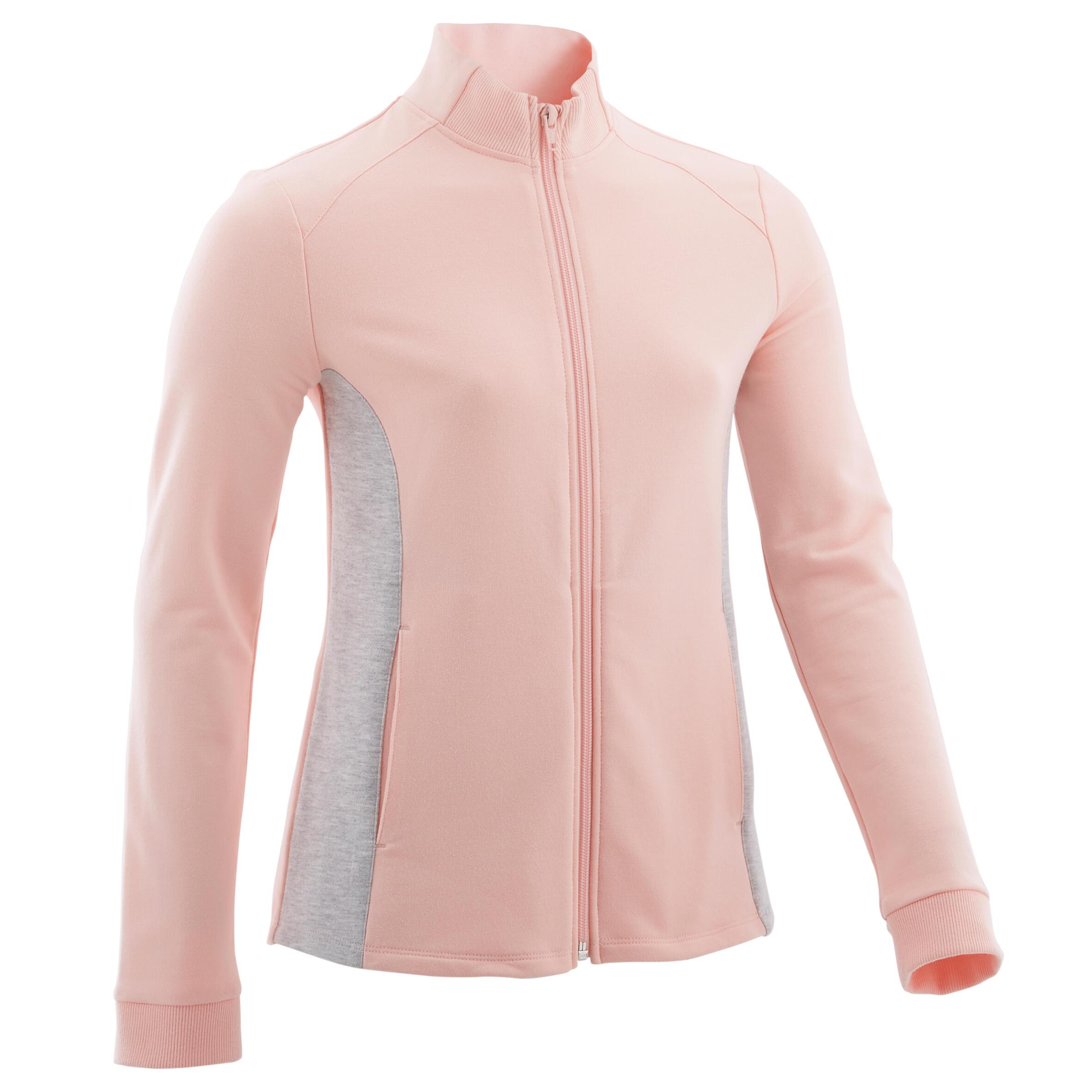 Bluză de trening 100 roz fete la Reducere poza