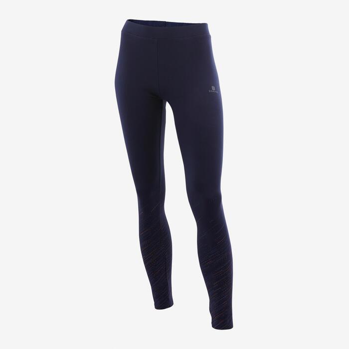 Legging fille coton - 500 dégradé bleu